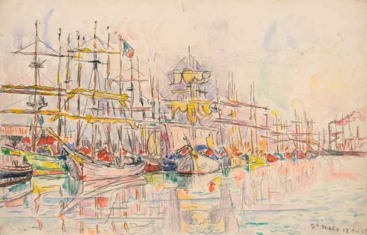 Paul Signac, Saint-Malo, October 18th, 1929