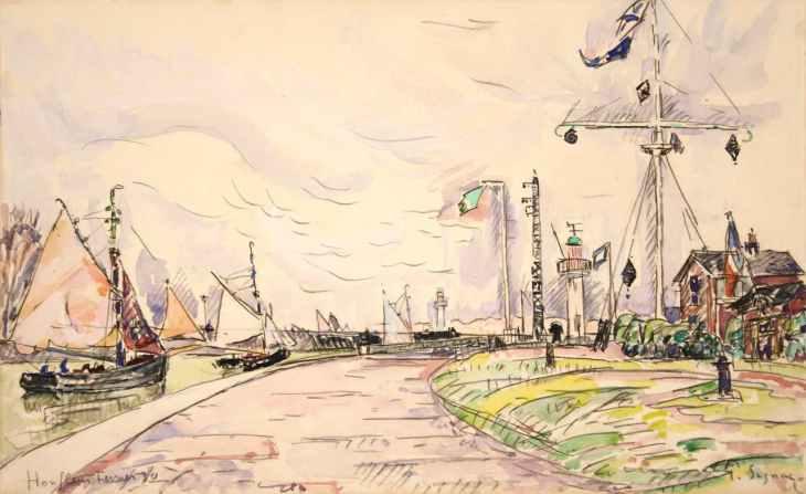 Paul Signac, Honfleur, la jetée, 1930