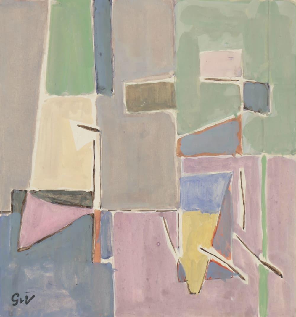 Geer van VELDE, Composition, C. 1954, gouache, 20,6 x 19,4 cm