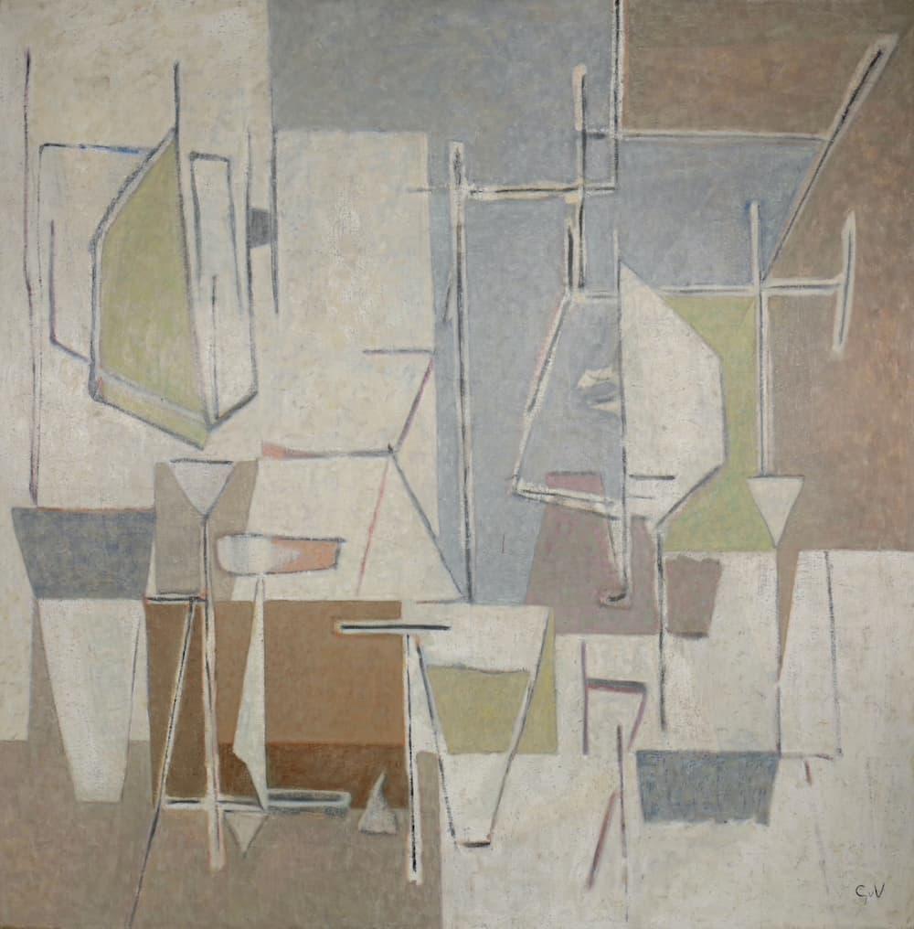 Geer Van Velde, Composition, Circa 1946, Huile sur toile