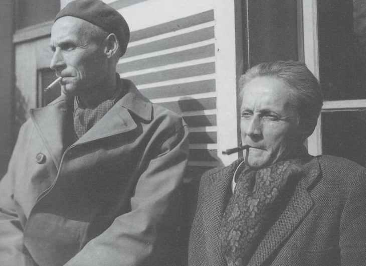 Bram et Geer van Velde à Cachan, 1948 Photo : Jo Bokma