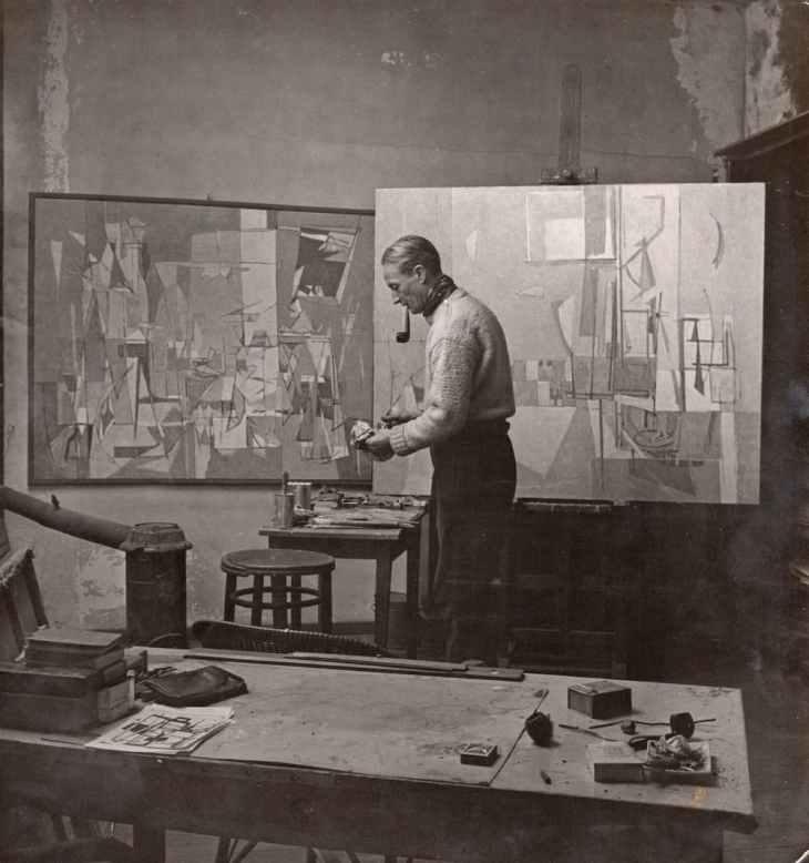Geer van VELDE in his studio, 1949 Photo: Jo Bokma