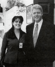 1995 White House photo of President Clinton and Monica Lewinksy