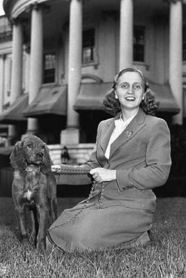 Margaret Truman with Mike, who stayed only briefly at the White House.