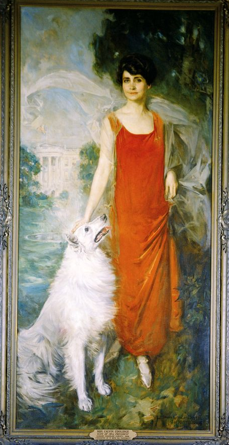 Rob Roy is forever immortalized in this painting with First Lady Grace Coolidge. It hangs prominently on the south wall of the China Room in the White House.