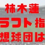 2018年 ドラフト 大阪桐蔭 柿木蓮 指名予想球団 成績 経歴 特徴