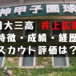 2019年 ドラフト 日大三高 井上広輝 井上大成 弟 成績 経歴 特徴