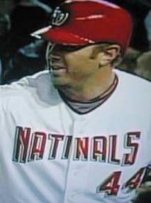 Washington Nationals outfielder Adam Dunn's uniform was misspelled to read Natinals