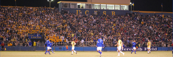 The UCSB men's soccer team has attracted the largest crowds in the NCAA to Harder Stadium for six straight years.