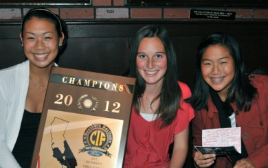 CIF plaque comes with Warriors to SBART luncheon