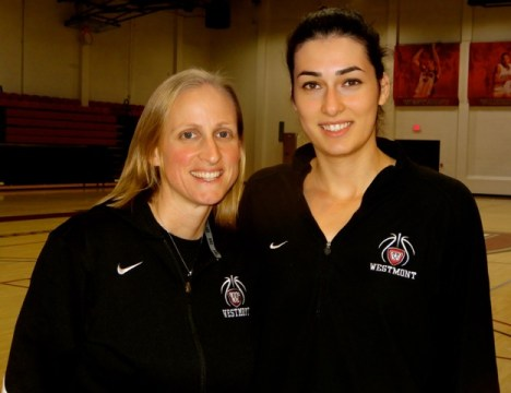 Westmont head coach Kirsten Moore and Canitez.