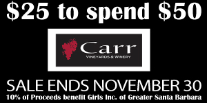 'Local Offer' from Carr Winery raising money for Girls Inc.