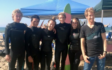 New San Marcos surf team competes in first contest
