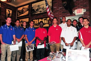 SBART Luncheon: All-City Football Team fills the room at Harry's