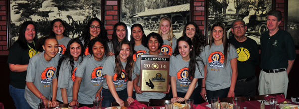 The Santa Barbara High girls basketball team was honored for winning the CIF 3AA Division title.