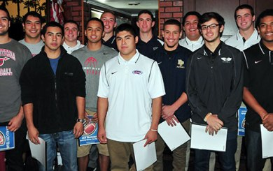 SBART Luncheon: Big donation, All-City football team highlight first meeting of 2015