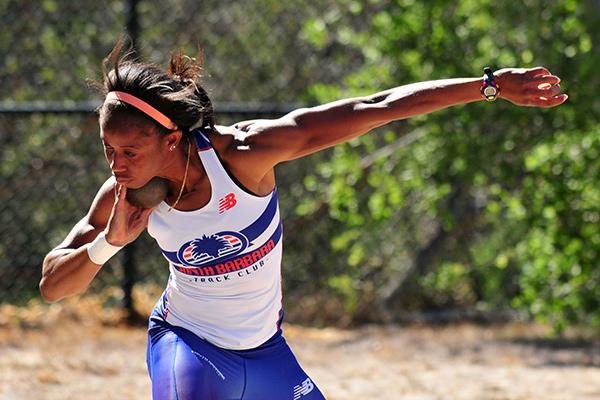Barbara Nwaba is No. 2 in the country in the heptathlon. (Presidio Sports Photo)