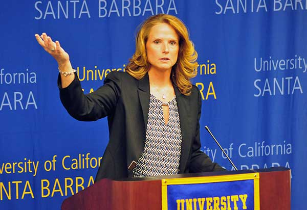Bonnie Henrickson is the new women's basketball coach at UCSB. She previously coached at Kansas and Virginia Tech.