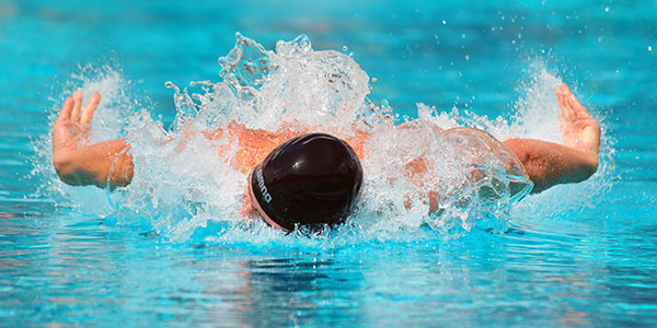 Alex Valente won the 100 butterfly and 100 backstroke and was on two winning relay teams for Dos Pueblos.
