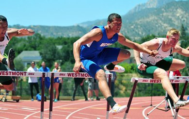 TRK: Gaucho men, Mustang women triumph at Blue-Green meet