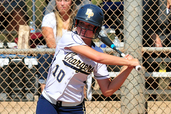 Ali Milam hit a run-scoring ground-rule double in the fourth inning.