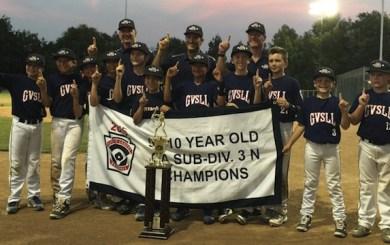 GVS 10U Stars make history, win sub-division title
