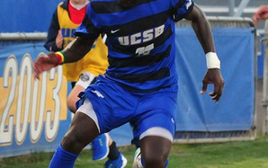 MSoc: Gauchos strike Charleston three times