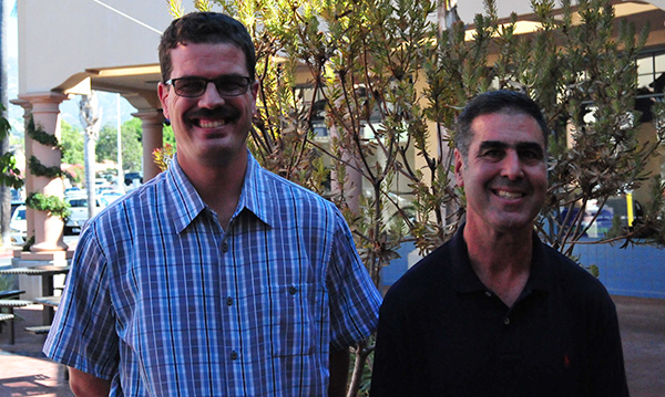 Santa Barbara Special Olympics Athletes of the Month honorees Kyle Peterscalia, left, and Steve Krouskopf.