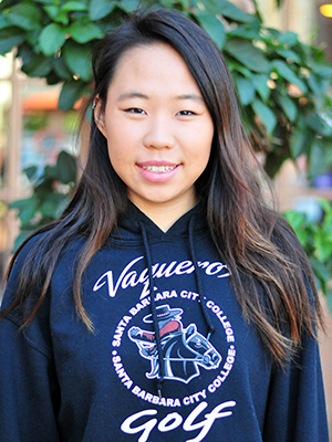 Carolin Chang, the female Athlete of the Week, won the State Community College individual golf title and led SBCC to the team title.