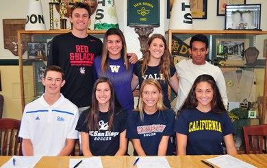 Santa Barbara High's college commitments