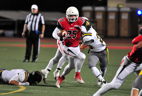 John Harris and the Bishop Diego rushing attack return to the gridiron on Friday night. (Presidio Sports Photo)