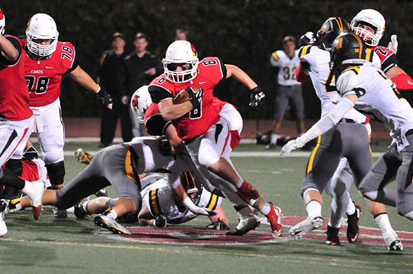Mike Soracco rushed for 269 yards and two touchdowns in Bishop Diego's wild win over Newbury Park.