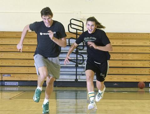 High school basketball stars Bolden Brace and Amber Melgoza, both signed to Division 1 scholarships, have one more season to play at Santa Barbara High. (Paul Wellman Photo)