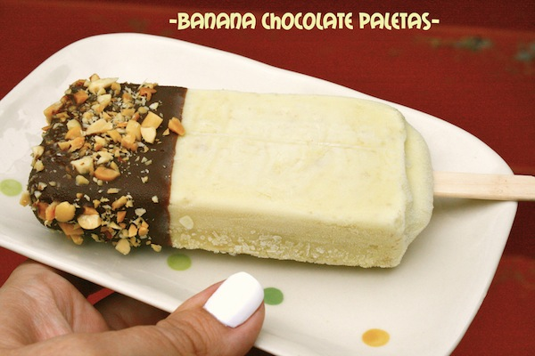 Banana Chocolate Paletas