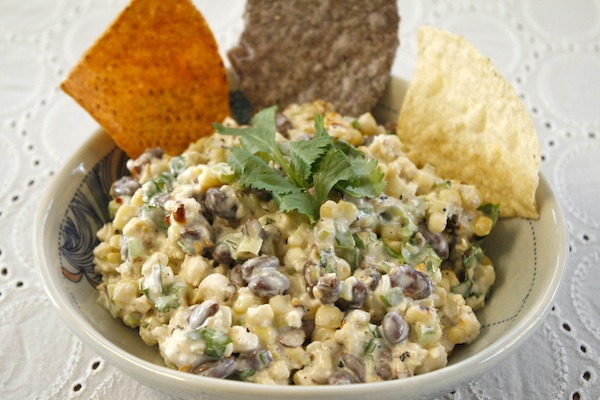 Warm Mexican Corn, Black Bean, and Cotija Salad: Esquites Recipe
