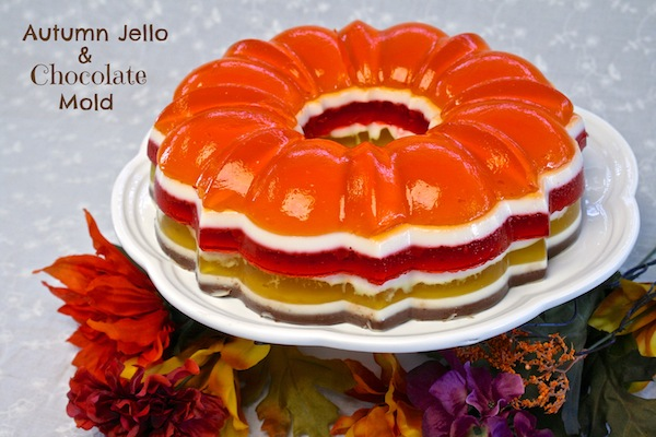 Autumn Jello And Chocolate Mold