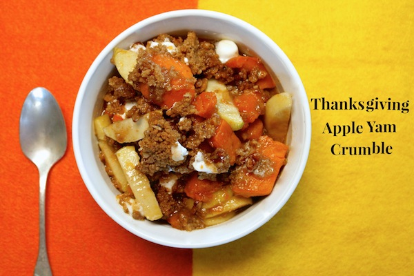 Thanksgiving Apple Yam Crumble