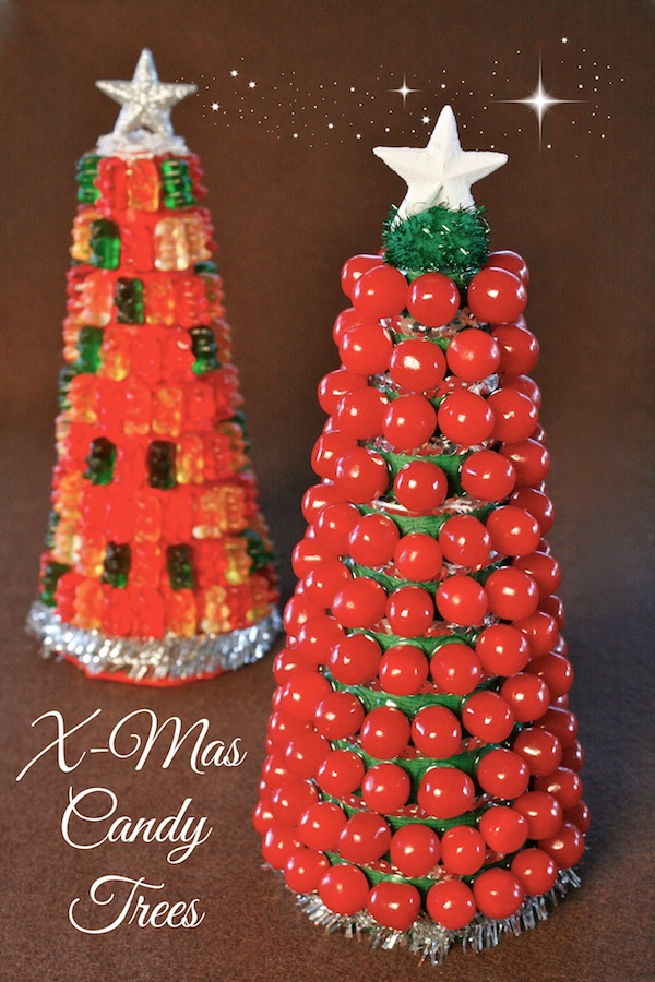 food craft how to build a candy christmas tree - Candy Christmas Tree