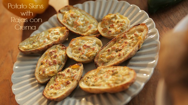 Score Big On Football Sunday: Make Potato Skins Filled With Rajas Con Crema