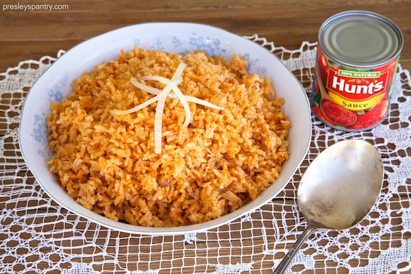 Mexican rice made with Hunt's