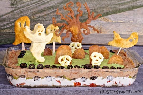 Halloween Graveyard Bean Dip