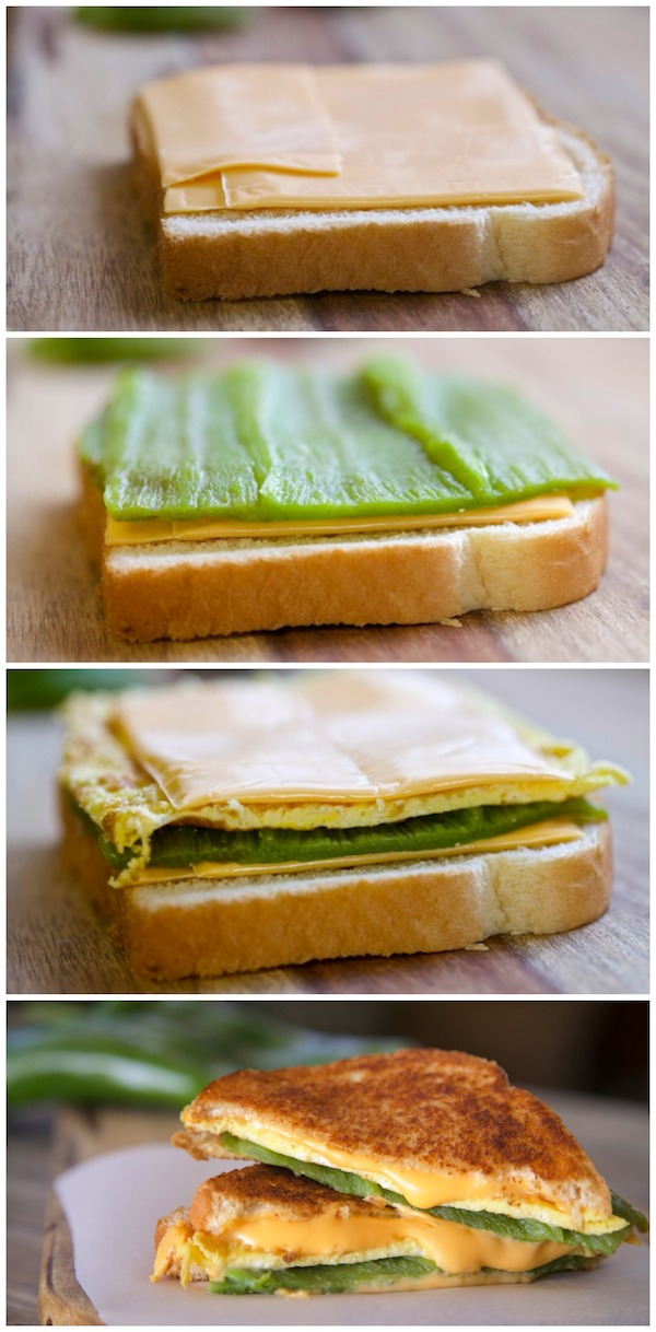 how to build a chile relleno grilled cheese sandwich. I bought all my ingredients at Walmart .