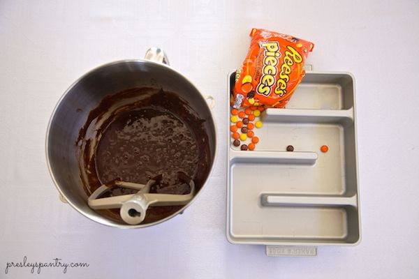 Brownies made with Reese's Pieces to celebrate the screening of E.T. at the Hollywood bowl