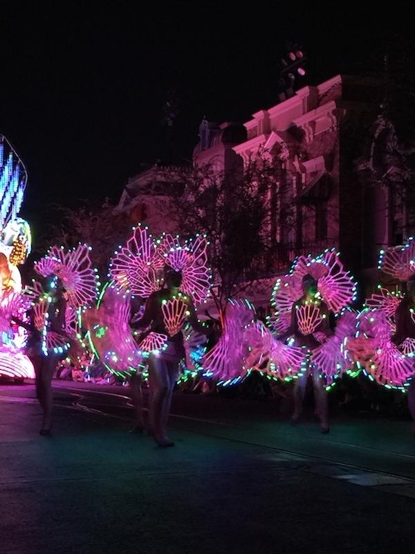 Pink lights make up these wonderful sea flower like costumes