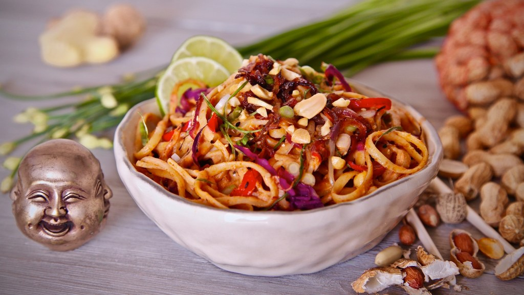 Spicy Noodles In Peanut Sauce will bring miles of smiles to your family