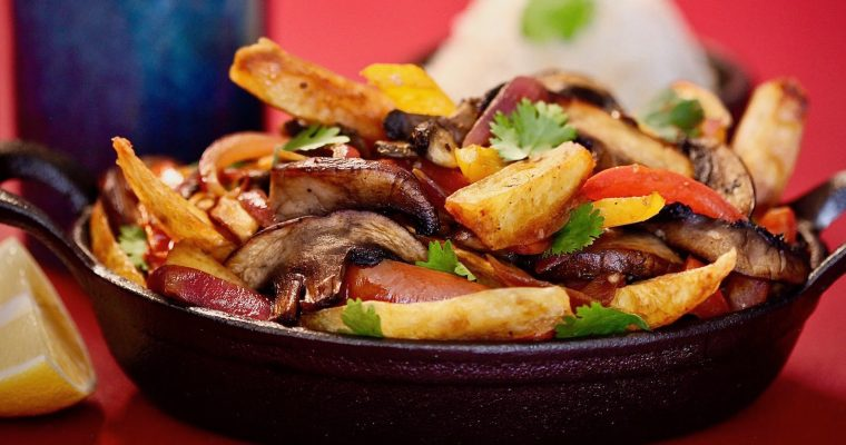 Mushroom Saltado : Idaho Potato Plant Based Lomo Saltado