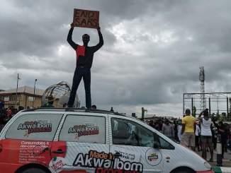 #Endsars Protest In Uyo (Photos)