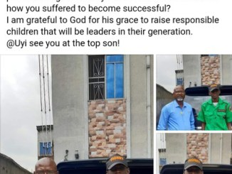 Nigerian Man Employs His Son As Security Man In His Company