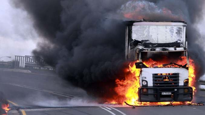 Truck torching remains a concern across SA's major highways