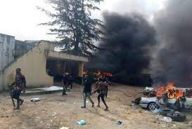 Hoodlums Set Abia Police Station On Fire